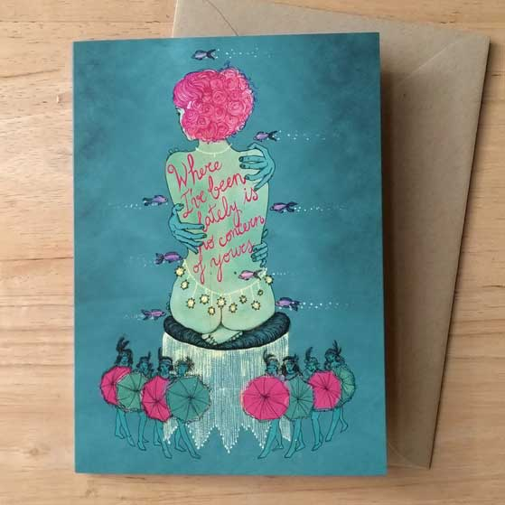 Sophia Greeting Card by Barbara Ana Gomez