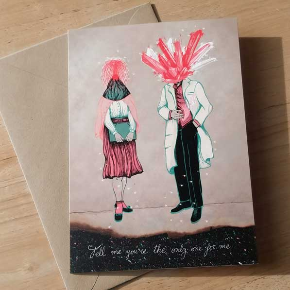 Space Dust Greeting Card by Barbara Ana Gomez